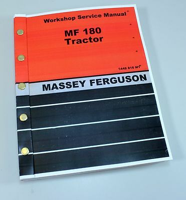 Massey Ferguson 180 Tractor Service Repair Shop Manual Technical Workshop Mf180