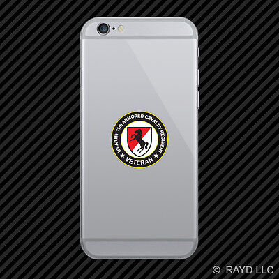 US Army 11th Armored Cavalry Regiment Veteran Cell Phone Sticker Diecut Decal