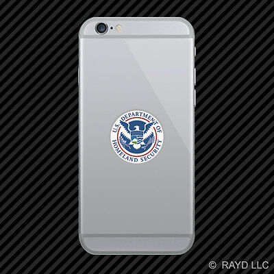 Dept of Homeland Security Cell Phone Sticker Mobile Die Cut department