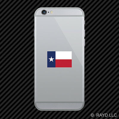 Texas State Flag Cell Phone Sticker Mobile Die Cut america american country