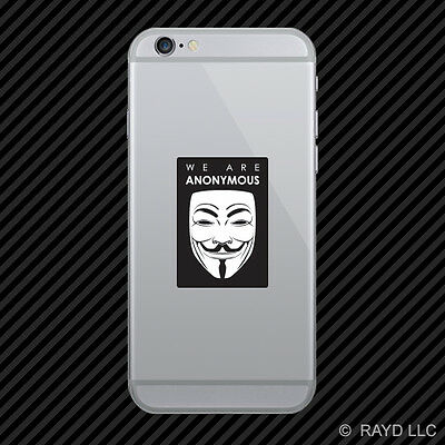 We Are Anonymous Cell Phone Sticker Mobile Die Cut hacker group internet