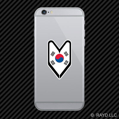 Korean Driver Badge Cell Phone Sticker Mobile wakaba leaf soshinoya south korea
