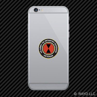 7th US Army Infantry Division Veteran Cell Phone Sticker Mobile Die Cut
