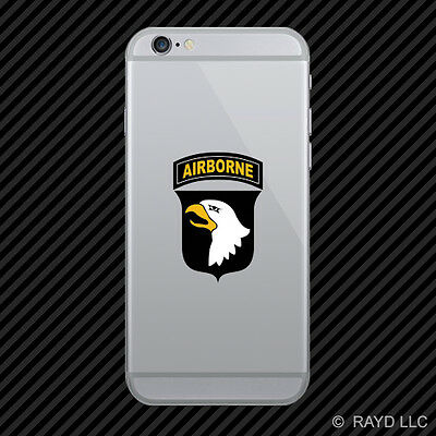101st Airborne Division Cell Phone Sticker Mobile Die Cut the Screaming Eagles