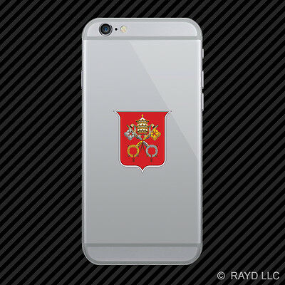 Vatican City Coat of Arms Cell Phone Sticker Mobile Flag