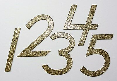 "10+ colors 1-15 4/"" Gold Glitter Chipboard Wedding Table Numbers 1-12 1-50"