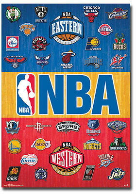 "NBA National Basketball Association Logos Team Fridge Magnet Size 2.5"" x 3.5"""