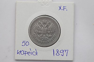 50 Kopeks  - year 1897 - Russia silver coin