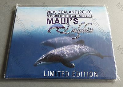 Neuseeland New Zealand 2010 8,80 Dollar KMS BU Coin Set Maui's Dolphin rare