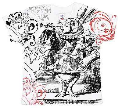 Dirty Fingers Baby T-Shirt All Over Print Alice in Wonderland White Rabbit