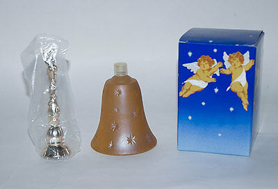 AVON HEAVENLY CHERUB HOSTESS BELL TOPAZE COLOGNE VINTAGE NEW 3.75 oz