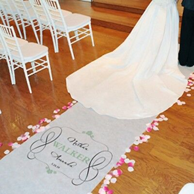New Personalized Timeless Aisle Runner 100'