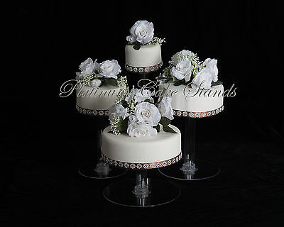 4 Tier Cascade Wedding Cake Stand (Style R406)