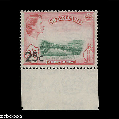 Swaziland 1961 (MLH) 25c/2s 6d A Highveld View scarce type II surcharge. SG74b