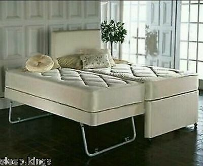 3Ft Single 3 In 1 Guest Bed With Under Bed Trundle Mattresses & Headboard