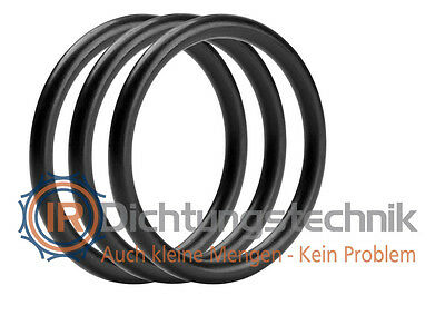 O-Ring Nullring Rundring 47,0 x 5,0 mm EPDM 70 Shore A schwarz (3 St.)