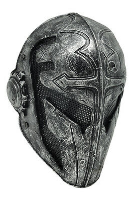 NEW Black Silver Full Face Wire Mesh Protection CS Paintball Templar Mask PROP