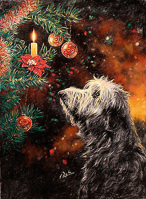 Lurcher dog, Christmas cards pack of 10 by Paul Doyle. C471X