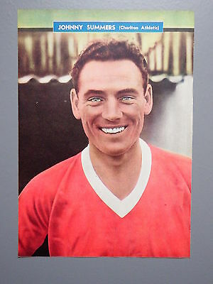 R&L Ex-Mag/Book Vintage Picture Johnny Summers-Charlton/Ron Tindall-Chelsea