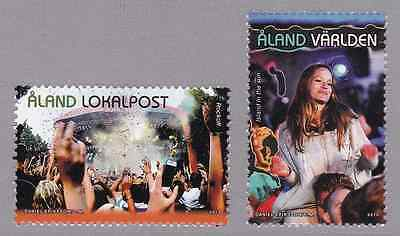 ALAND - 2013 - Music Festivals. Complete set, 2v. Mint NH