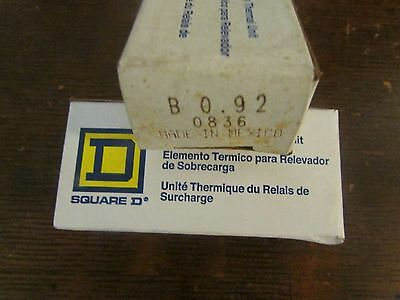 SQUARE D B0.92 Thermal Overload Relay Heater Element B0 92