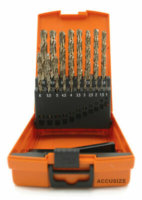 M35 HSS+5% Cobalt Metric Drill Set, 1 to 10mm by 0.5mm in Strong Box, #3110-1119