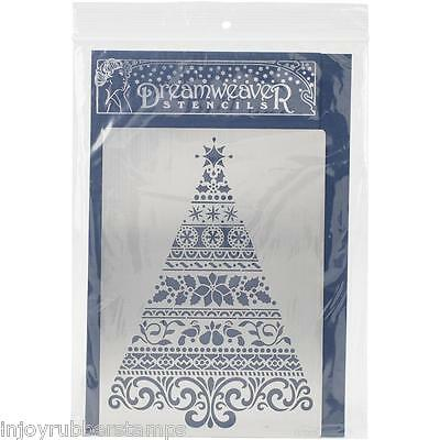 Dreamweaver Ornate Christmas Tree Large Stencil LX7003