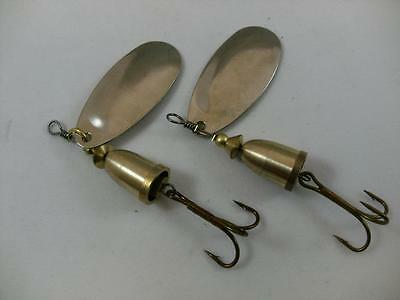 2 x 10g sonic spinner silver gold lures pike perch bass trout river fishing