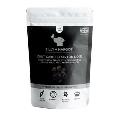 Billy and Margot JOINT CARE VENISON TREATS Dog Puppy Natural Glucosamine 75gm