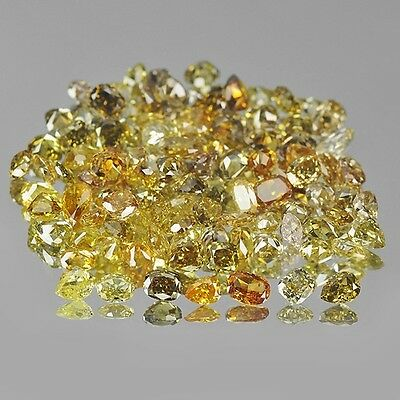 1 Carat Lot of Earth Mined Fancy Shapes Loose Natural Colorful Diamonds SeeVideo