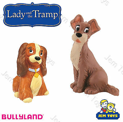 Disney Lady and the Tramp Deluxe Figures Figurines Toy Cake Toppers Bullyland