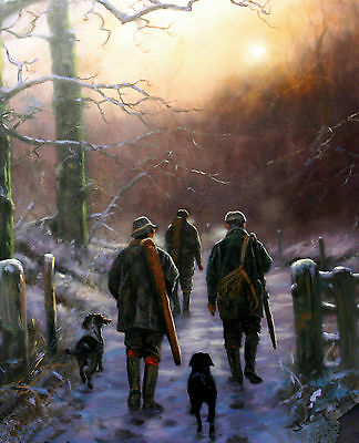 Shooting with Dogs Christmas cards pack of 10 by John Trickett. C485X