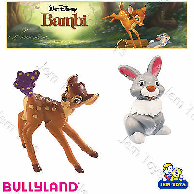 Disney Bambi & Thumper Deluxe Figures Figurines Toy Cake Toppers Bullyland
