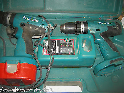 makita 18v hammer combi drill x2 with 1 battery & charger 1 drill ok 1 faulty