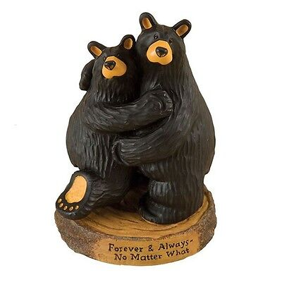 BEARFOOTS Figurine Black Bear Couple 30150199 FOREVER AND ALWAYS