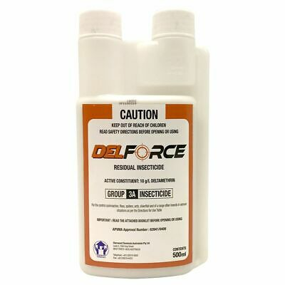 DELFORCE 500ml Liquid Insecticide DIY Pest Control Spray Deltamethrin DEL FORCE