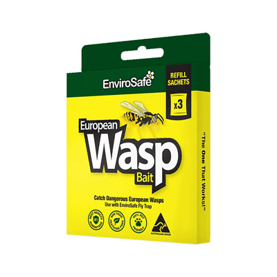ENVIROSAFE WASP ATTRACTANT REFILLS (Pk 3) Catch European Wasps Safely
