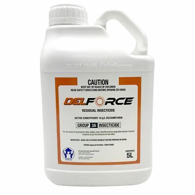 DELFORCE 5 Litre Liquid Insecticide Pest Control Spray Deltamethrin DEL FORCE