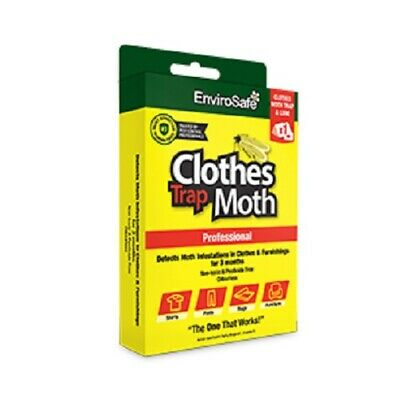 ENVIROSAFE Clothes Moth Trap & Lure Non Toxic Safe DIY - Last 3 Months
