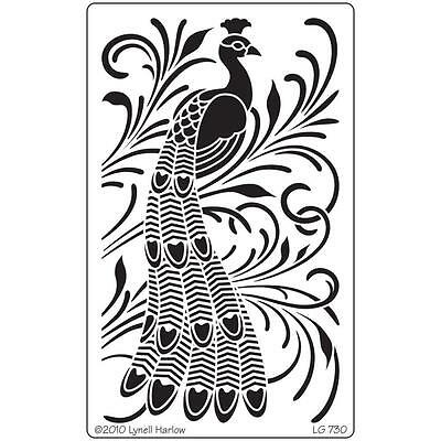 Dreamweaver Peacock Stainless Steel Stencil LG730