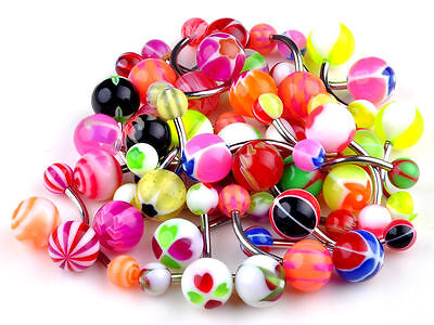 Wholesale Lot 30pcs 14G Belly Button Navel Ring Piercing Jewelry No Duplicate