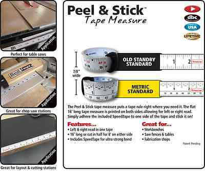 New FastCap 16' Peel and Stick Tape Measure Standard and Metric/Standard