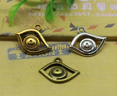 20/100pcs silver/Bronze Egyptian Eye of Horus / Ra Amulet Chain Necklace Pendant