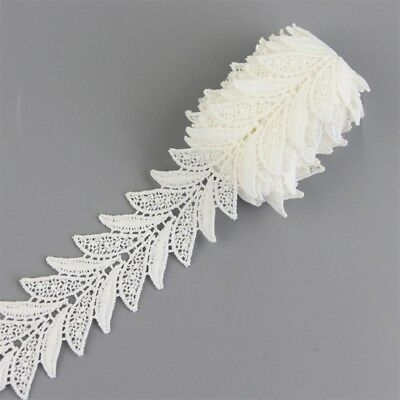 2 Yards Off White Cotton Lace Trim Flower Floral Motif Sewing Trimming DIY Craft
