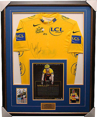 Cadel Evans Signed Yellow Official Tour De France Jersey Framed L/E  141 Units