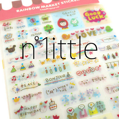 6 Sheets New Pretty Transparent Labels Stickers Scrapbook Journal Diary #SK-04
