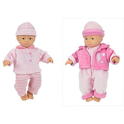 38 cm mit 24 Sound Weichpuppe Stoffpuppe Simba Laura Babbling Babypuppe ca
