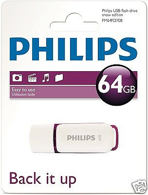 Philips Snow Edition 64 GB USB Stick USB 2.0  FM64FD70B