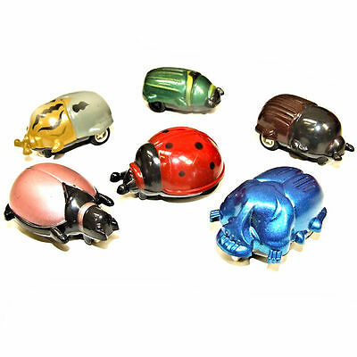 6 Pull Back & Go Beetle Toys - Fun Pocket Money Toys for Children aged 3 years+