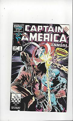 CAPTAIN AMERICA Annual #8 (1986), (Wolverine), VF shape, FREE SHIPPING